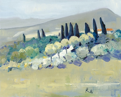 Ruth Bond, Tuscany Glimpse of White Road